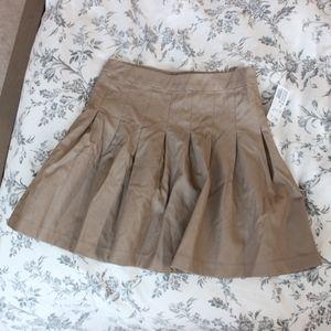 Forever 21 Tan Faux Leather Mini Skirt